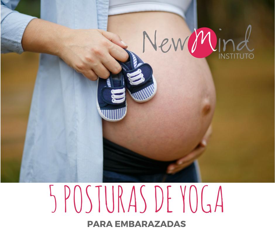 postura de yoga para embarazadas